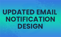 Email design update and design lift plans